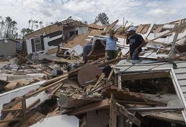 El huracán Laura dejó secuelas a su paso por Luisiana