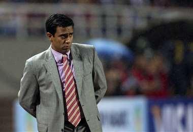 César Farías, DT de la selección boliviana. Foto: FIFA.com