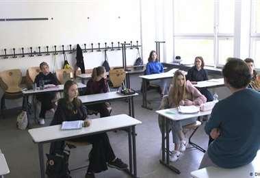 Menos alumnos y más distancia. Foto Internet