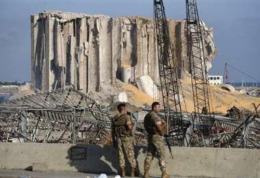 ONU pide reconstruir los silos de grano destruidos por la explosión en el puerto de Beirut