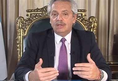 El presidente Fernández. Foto Internet