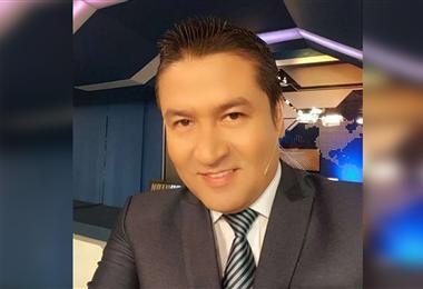 Marcos Montero, periodista cruceño, que lucha contra el Covid-19. Foto. Internet