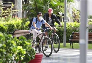 La necesidad de transporte hizo que la demanda de bicicletas aumente (Foto: Fuad Landívar)