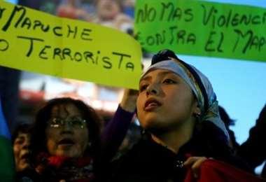 Protesta mapuche. Foto Internet