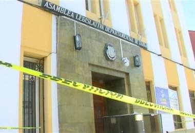 Toma de edificio en Tarija