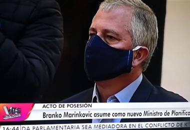 Branko Marinkovic, nuevo ministro de Planificación