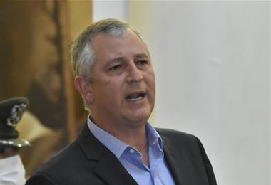 Marinkovic juró como nuevo miembro del gabinete de la presidenta Jeanine Áñez. Foto. APG Noticias