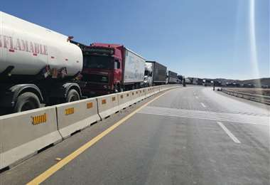 Los puntos de bloqueos se incrementaron esta jornada en Oruro