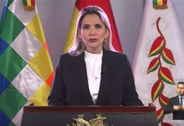 La Presidenta Jeanine Áñez dará su mensaje presidencial este jueves a las 10.00.