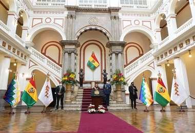 Mensaje de la Presidenta desde Palacio Quemado.