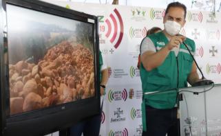 Aguilera repudia los bloqueos en tiempo de lucha por la vida Foto: Gobernación