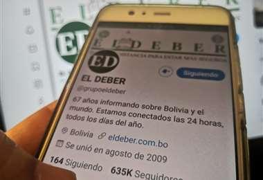 Liderazgo de El Deber en Twitter