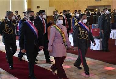 La Presidenta participó de los actos de las FFAA  Foto: Daniel Miranda, APGNoticias