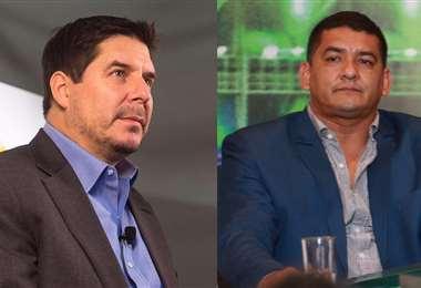 Marcelo Claure, presidente de Bolívar, y Marcos Rodríguez, presidente en ejercicio de la FBF. Foto: Internet / EL DEBER