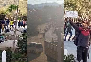 Samaipata, acechada por marchistas
