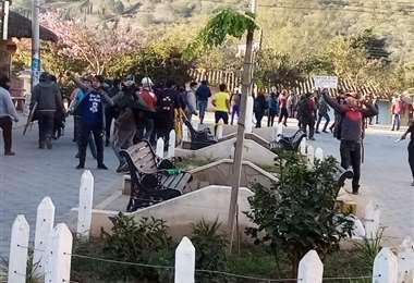 Gente armada genera temor en Samaipata