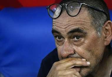 Maurizio Sarri no va más en la Juventus. Foto: AFP