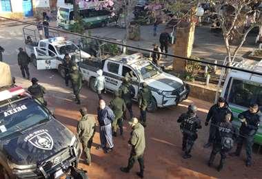 La presencia policial en Samaipata