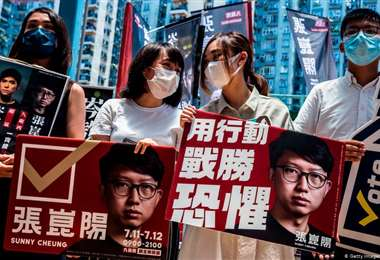 foto de archivo de una protesta prodemocracia en Hong Kong. Foto Internet