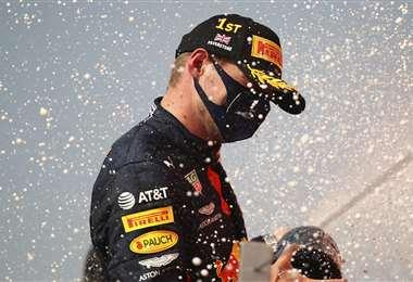 Max Verstappen celebrando su victoria. Foto: AFP