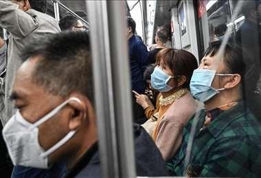 Un autobús en Wuhan. Foto Internet
