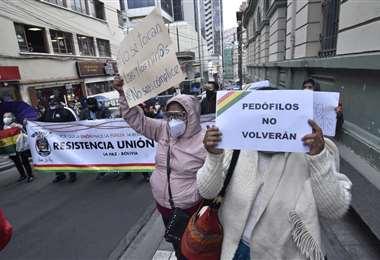 La vigilia en puertas del TDJ en La Paz I APG.