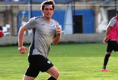 Leo Vaca durante un entrenamiento con Bolívar. Foto: Prensa Bolívar