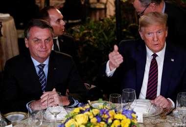 Los presidentes Bolsonaro y Trump. Foto Internet