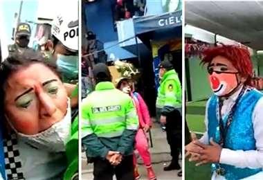 La intervención policial al velatorio. Foto APNoticias