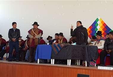Abel Mamani en El Alto I MAS.