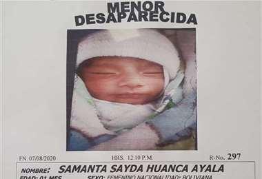 La menor fue raptada el pasado martes, 8 de septiembre
