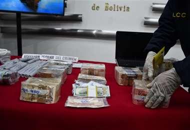 El dinero y explosivos secuestrados I Gobierno