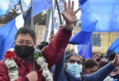 El candidato del MAS en el inicio de campaña en El Alto (Foto: APG Noticias)
