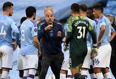 El City de Guardiola es siempre candidato al título en la Premier. Foto: AFP