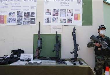 En el último mes se secuestró armamento y municiones ilegales. Fotos: APG Noticias