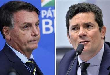 Bolsonaro y su exministro Moro