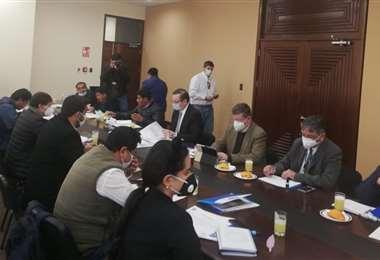 Reunión de municipios y el Ministro de Economía en La Paz