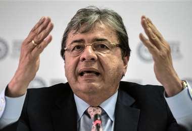 El ministro de Defensa colombiano. Foto AFP