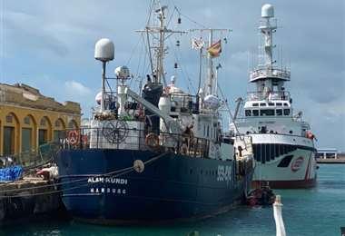 Pertenece a la ONG alemana de ayuda a los migrantes Sea Eye