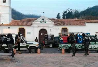 Los jóvenes fueron arrestados en días pasados en Sucre
