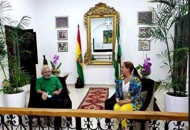 El gobernador Costas junto a la alcaldesa Sosa /Foto: Redes Sociales