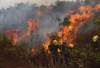 El parque nacional Noel Kempff Mercado arde en estos momentos