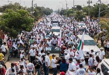 Creemos, de Luis F. Camacho, realizó caravanas en Santa Cruz y sus provincias