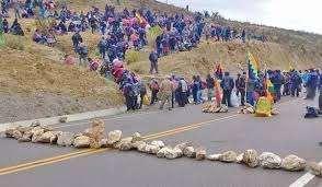 El bloqueo de caminos fue instigado por Morales