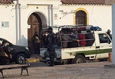 Fueron detenidos en días pasados en la zona de La Recoleta en Sucre