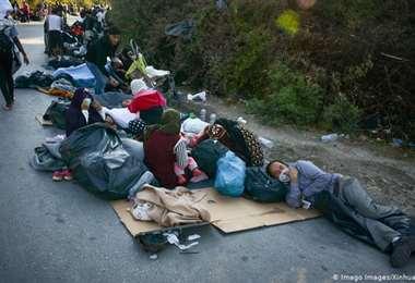 En el campo de Moria, en la isla de Lesbos, vivían más de 12.000 personas