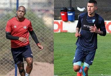 Serginho y Arce son las cartas de gol de sus equipos. Foto: P. Wilster y Bolívar