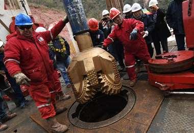 Trabajo de perforación del pozo Sipotindi X1/Foto: ABI