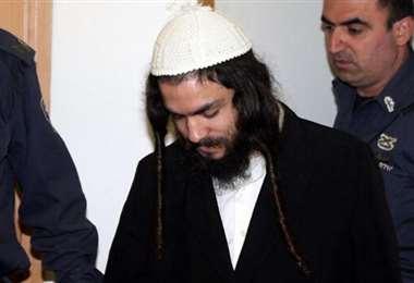 El condenado Amiram Ben Uliel. Foto Internet