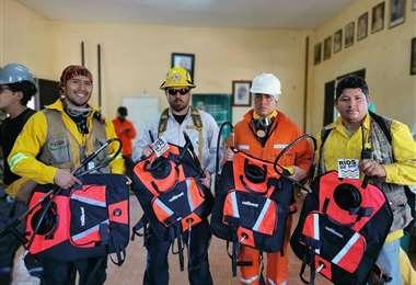 Donación de mochilas realizadas el pasado año por Ríos de pie
